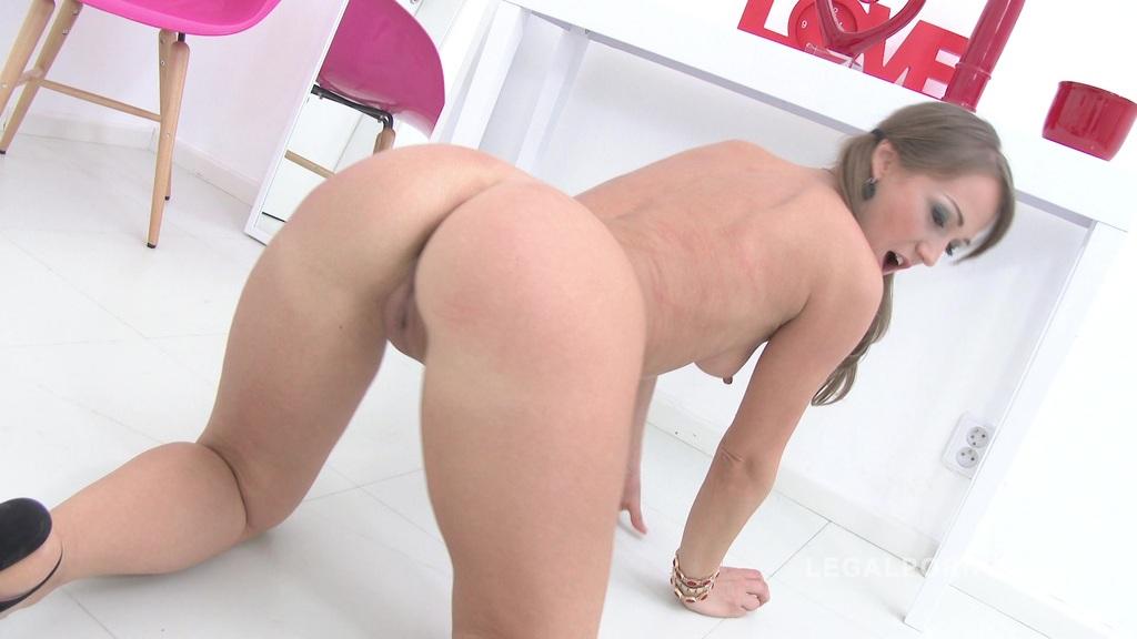 Angel Karyna DAPed & manhandled 0% pussy