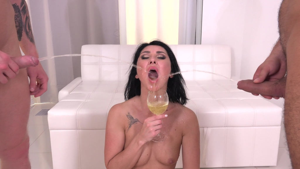 First DAP 4 on 1 for Eva Black with DP, Balls Deep Anal, Pee Drink, Gapes and...