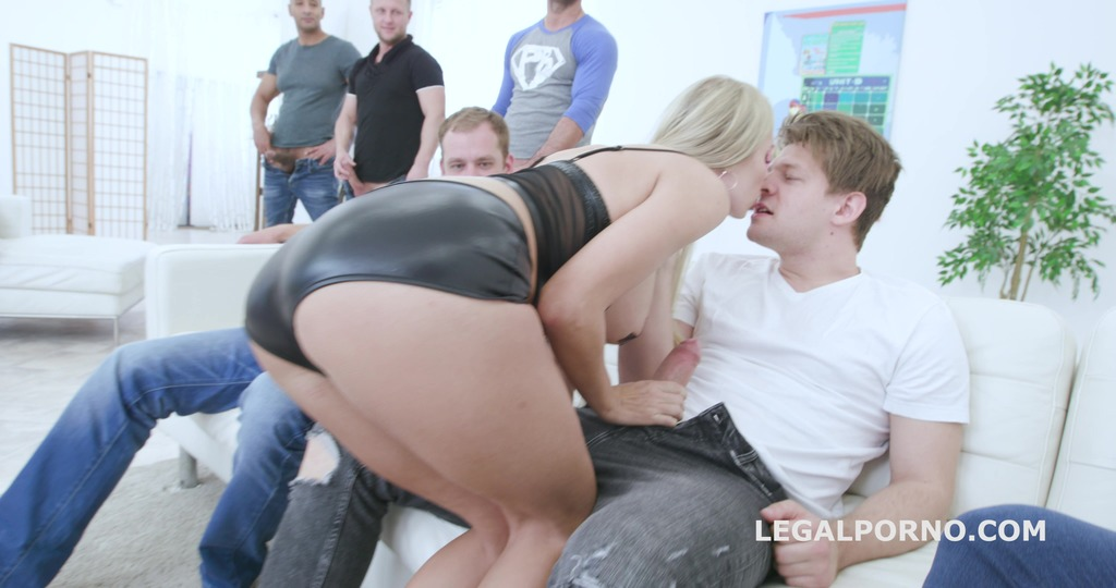 7on1 Double Anal Gangbang with Florane Russell, Balls Deep Anal, DAP, Gapes,...