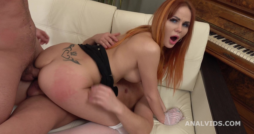 Katie Montana is back for 2on1 DP with Balls Deep Anal, Gapes and Cum in Mouth GL390