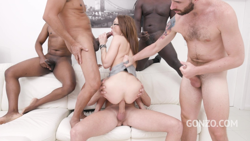 Mina goes straight to anal fucking with DP, DAP and triple penetration SZ2609