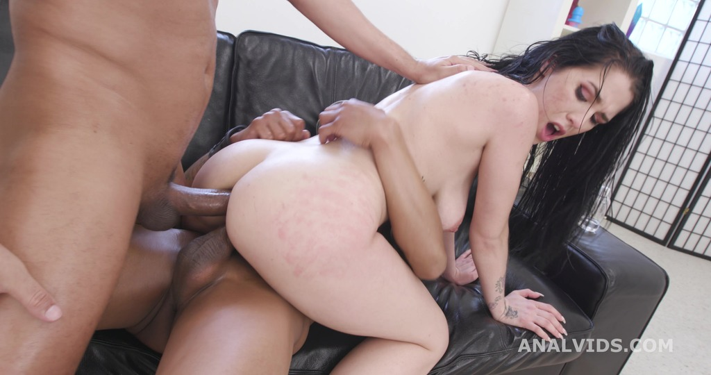 Sarah Simons Vs 2 BBC, Hot Cz Brunette First Interracial DP with Gapes and Creampie Swallow GL440
