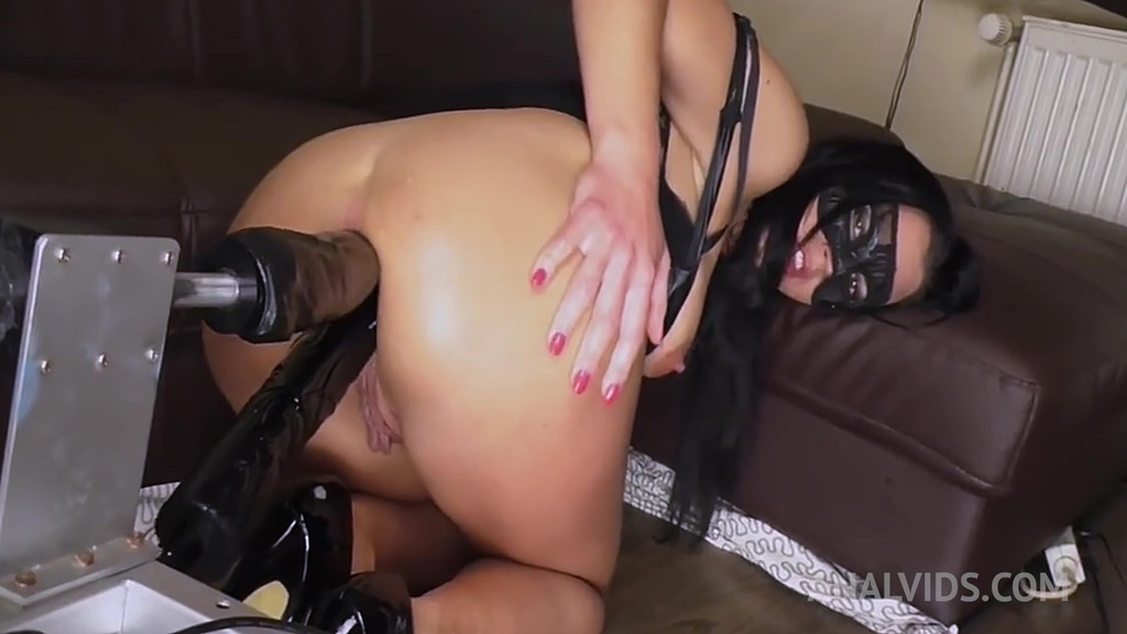 Queen Eugenia drilled by fuck machine with DP & DAP OTS094