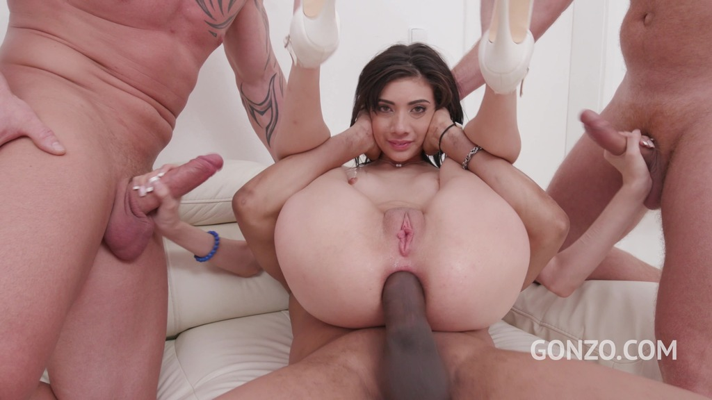 Emily Pink double anal fucked by 3 guys SZ2356