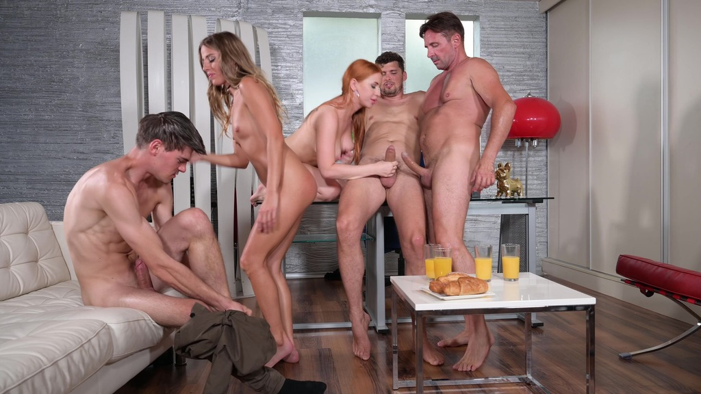 Eveline Dellai and Kiara Lord Swap BFs and Get DPd in Pre-Breakfast Gangbang GP2081