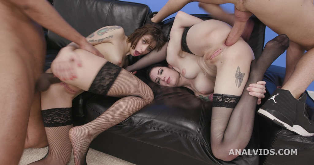Teach me!, Anna de Ville and Silvia Soprano, 2on2 Balls Deep Anal, Gapes, DAP, ATOGM and Farting Creampie Swallow GIO1685