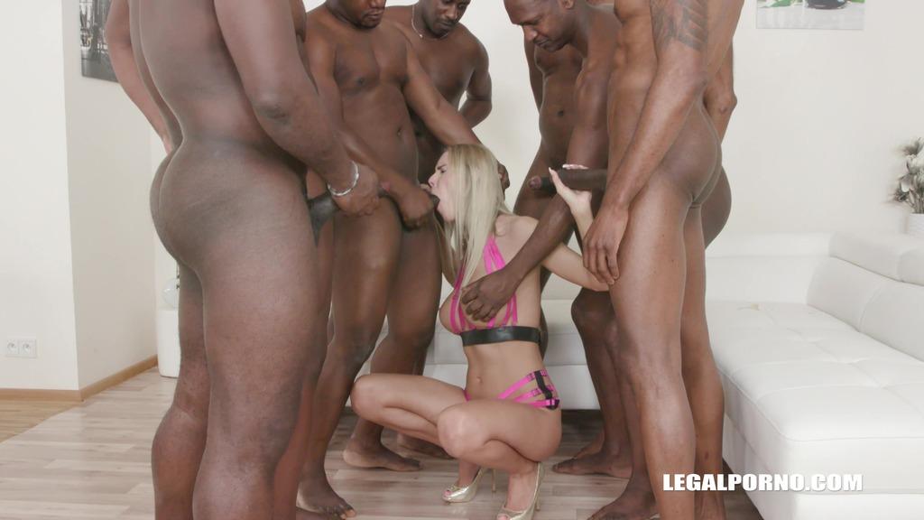 Florane Russell Interracial gangbang with double anal IV289