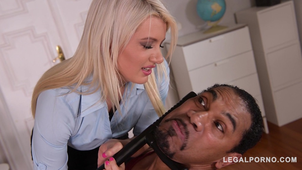 DP'ed Detective Layla Price screams & creams while black cock fucks her ass GP136