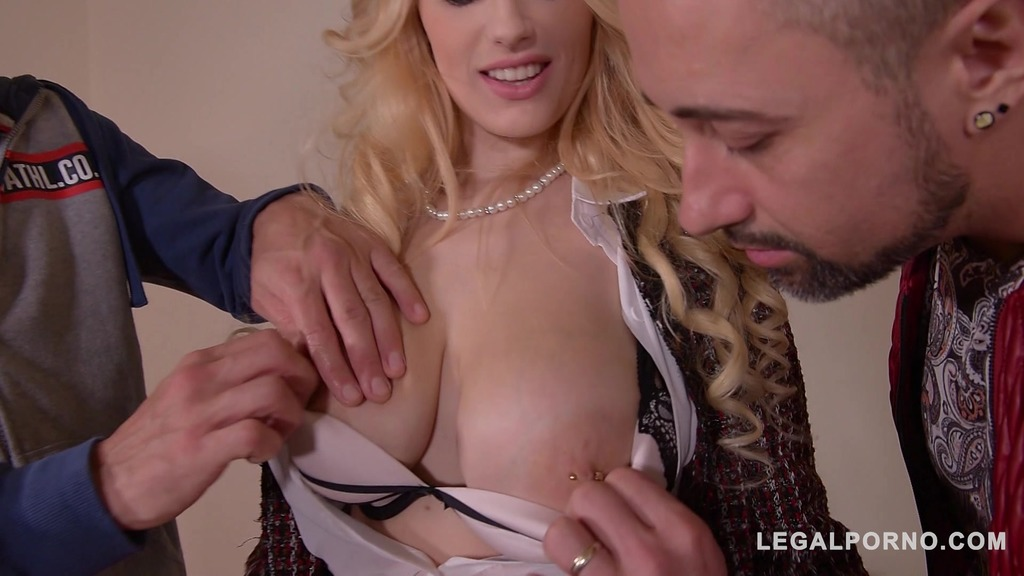 Busty teacher Angel Wicky lubes up her vocals cords with 2 massive cumshots...
