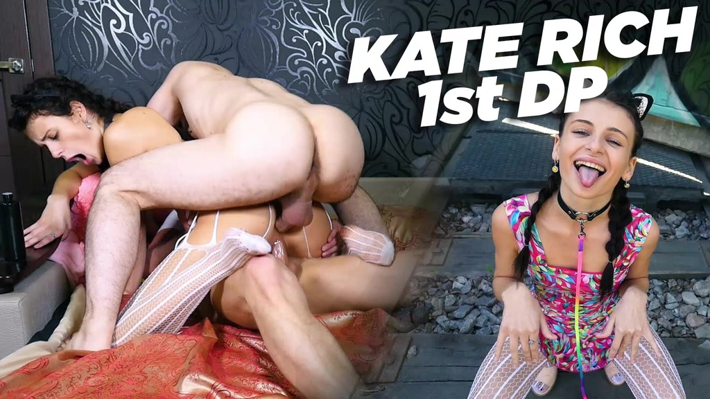 Amazing Kate Rich and her FIRST DOUBLE PENETRATION! JMC045