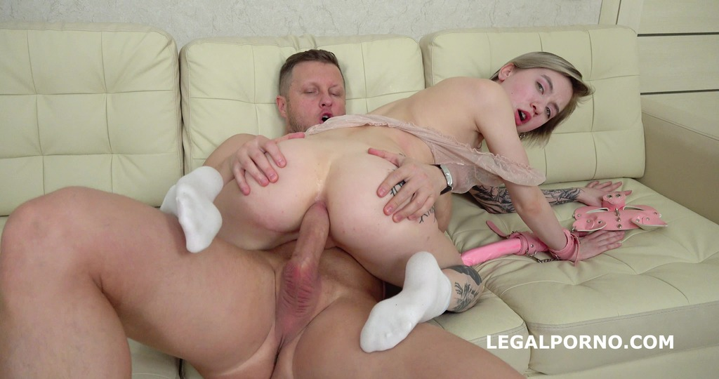 Mr. Anderson's Anal Casting, Lina Piggy welcome to Porn with Balls Deep Anal, Nice Gapes and Cum in Mouth GL141