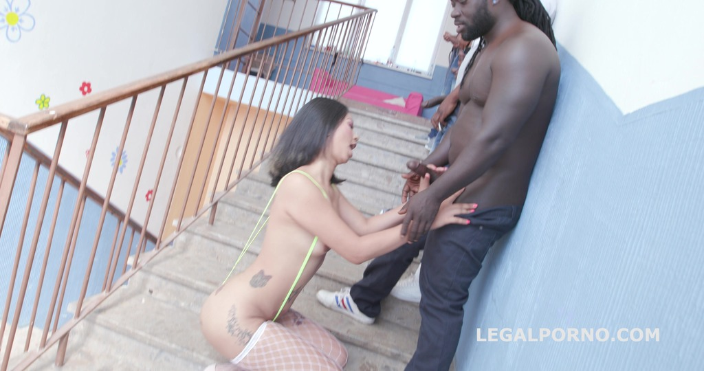 Black busters 6on1 with Jureka Del Mar No Pussy / Balls Deep Anal / DAP /...