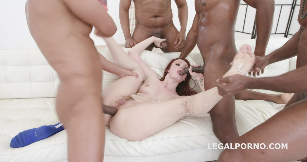 Blackbusters Violet Monroe gets 5 BBC, Rough Balls Deep Anal, DAP, Gapes, Creampie and swallow GIO1001