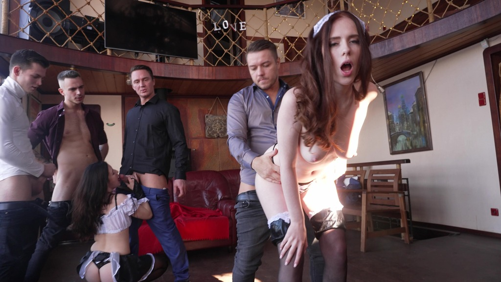 Bachelor Party in Vegas! Pervert Bar with Jessie Way and Lina Love (DPP and DP) NRX126