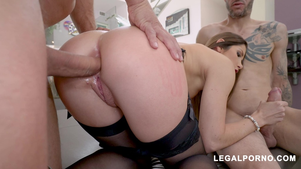 French Slut Clea Gaultier Takes Two Cocks From Chris Strokes and Ramon Nomar...