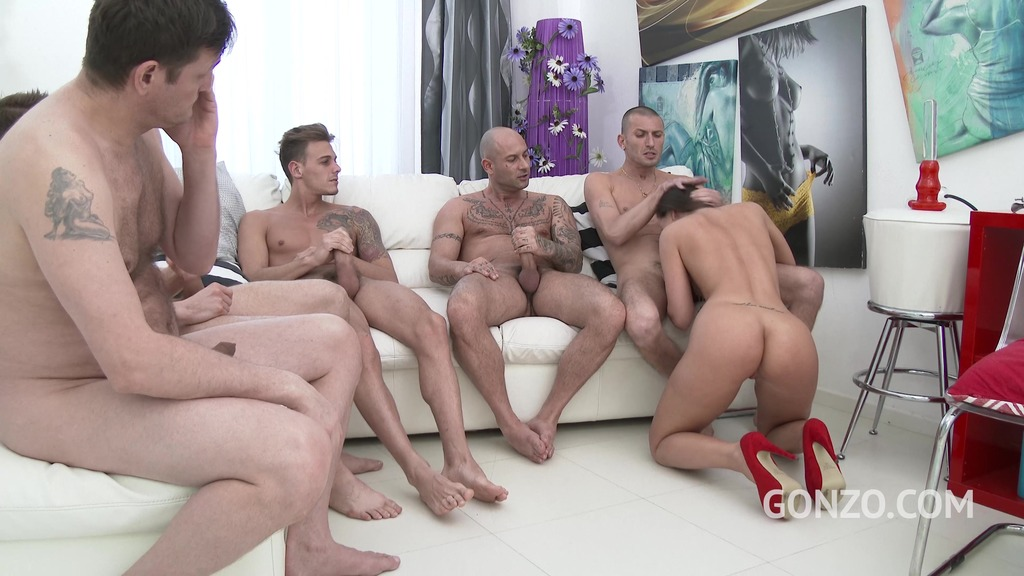 Kristy Black - my first double anal (5on1 DAP, DPP, TP and DP) SZ1714