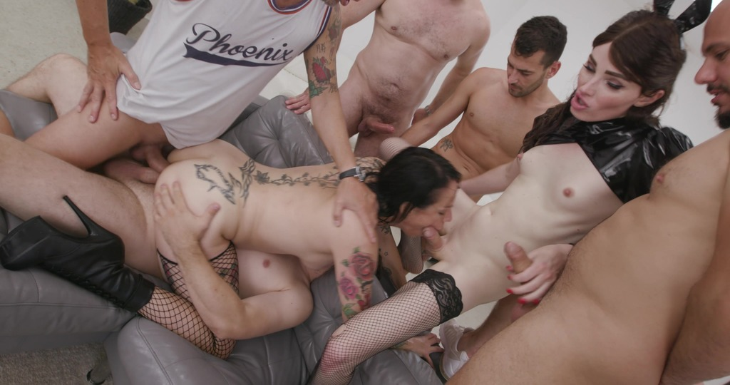 Natalie Mars VS Adeline Lafouine #2, Fisting, ATOGM, DAP, ButtRose, Squirt Drink, Cum in Mouth, Swallow BTG058