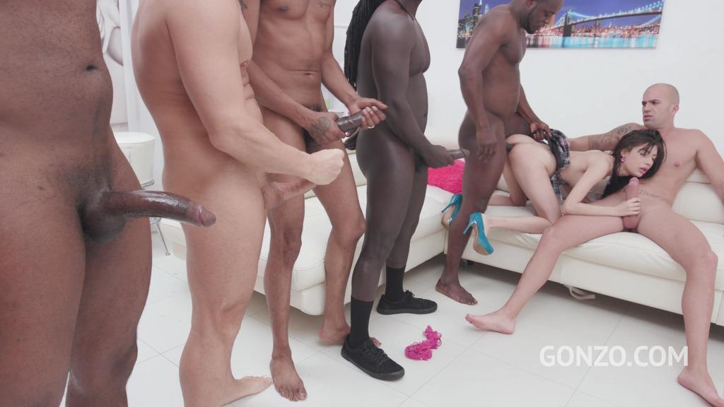 Petite schoolgirl Emily Pink assfucked by 6 guys with DP & DAP SZ2365
